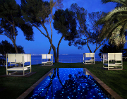 mallorca tagungen hotel melia de mar poolclub nacht